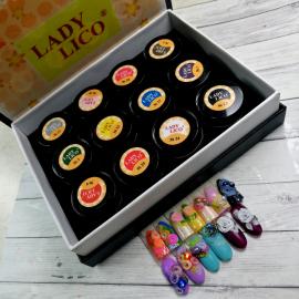 Цветной пластилин (набор, 12 цветов) )